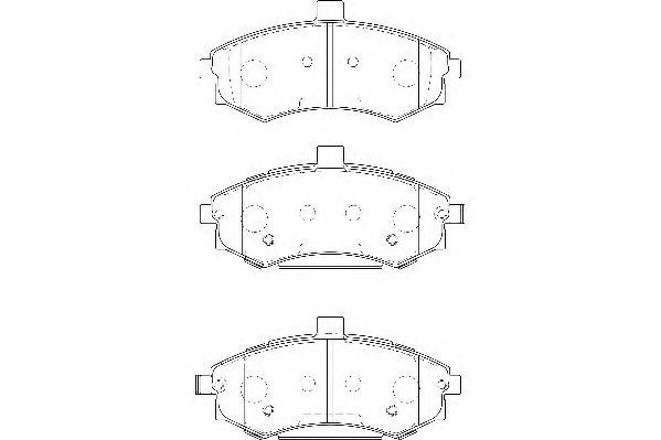 Тормозные колодки WAGNER WBP24031A