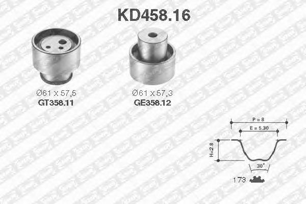 Комплект ремня ГРМ SNR KD458.16
