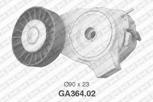 Натяжной ролик поликлинового ремня SNR GA364.02