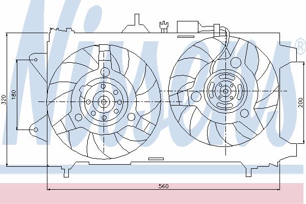 Вентилятор охлаждения NISSENS 85053