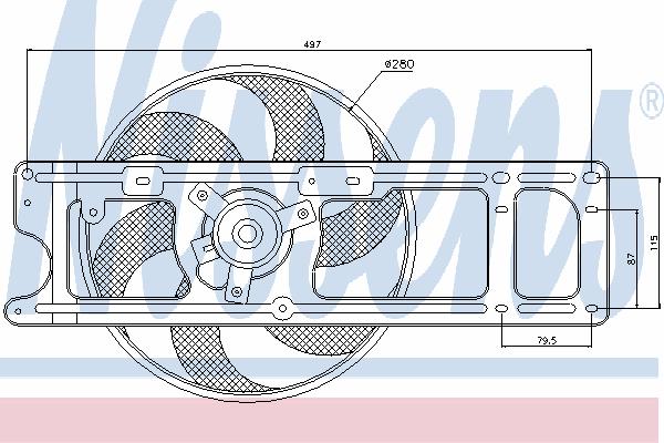 Вентилятор охлаждения NISSENS 85253