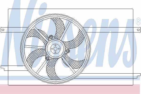 Вентилятор охлаждения NISSENS 85593