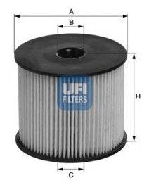Топливный фильтр UFI 26.054.00