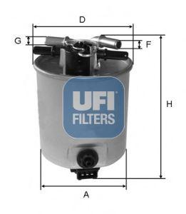 Топливный фильтр UFI 55.393.00