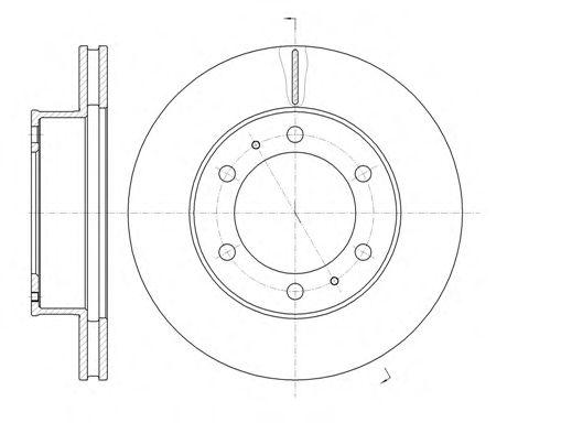 Тормозной диск REMSA 61205.10