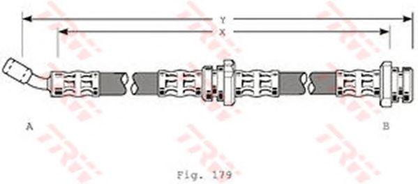 Тормозной шланг TRW PHD205