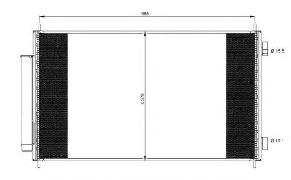 Радиатор кондиционера NRF 35864