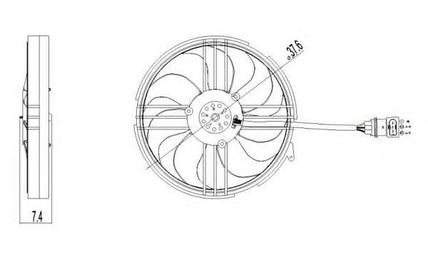 Вентилятор охлаждения NRF 47409