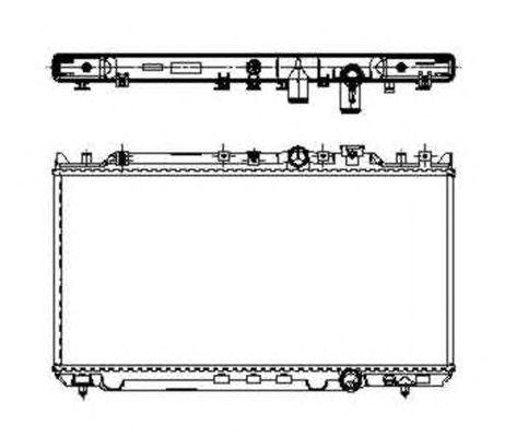Радиатор, охлаждение двигателя NRF 509652