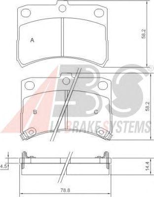 Тормозные колодки A.B.S. 37168