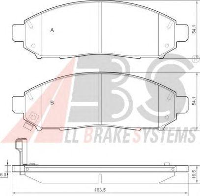 Тормозные колодки A.B.S. 37518