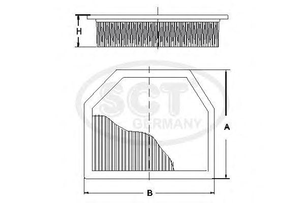 Воздушный фильтр SCT Germany SB 2286