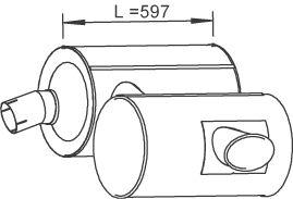 Глушитель DINEX 28462