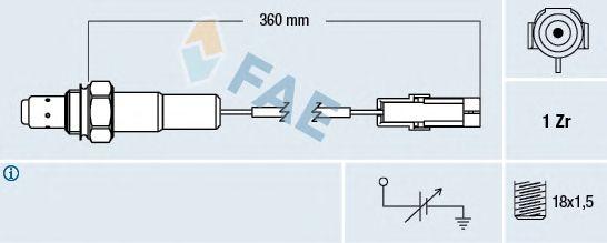 Лямбда-зонд FAE 77101