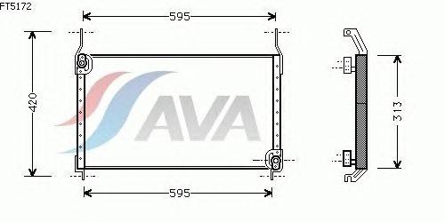 Радиатор кондиционера AVA QUALITY COOLING FT5172