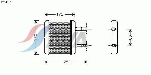 Радиатор отопителя AVA QUALITY COOLING HY6137