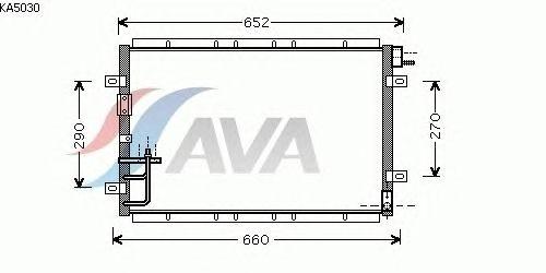 Радиатор кондиционера AVA QUALITY COOLING KA5030