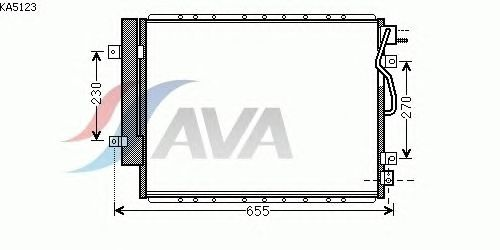 Радиатор кондиционера AVA QUALITY COOLING KA5123