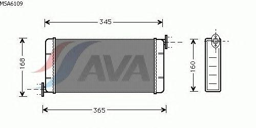 Радиатор отопителя AVA QUALITY COOLING MSA6109