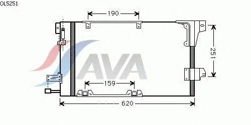 Радиатор кондиционера AVA QUALITY COOLING OL5251