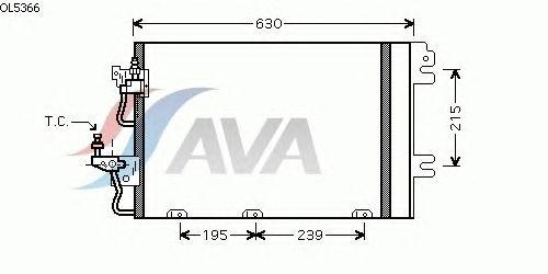 Радиатор кондиционера AVA QUALITY COOLING OL5366