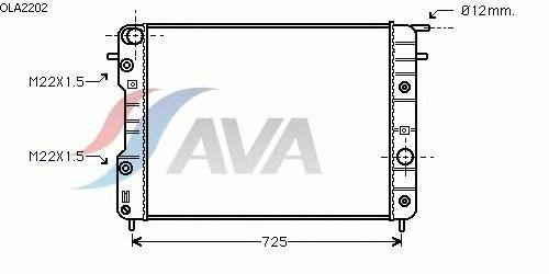 Радиатор, охлаждение двигателя AVA QUALITY COOLING OLA2202