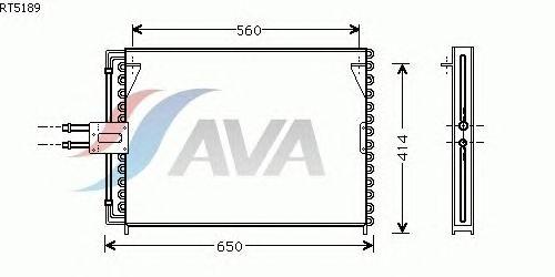 Радиатор кондиционера AVA QUALITY COOLING RT5189