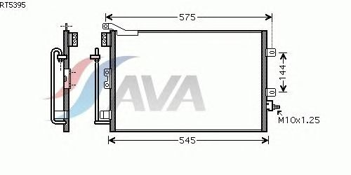 Радиатор кондиционера AVA QUALITY COOLING RT5395