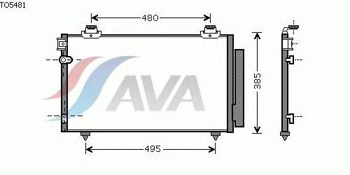 Радиатор кондиционера AVA QUALITY COOLING TO5481
