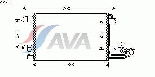 Радиатор кондиционера AVA QUALITY COOLING VW5209