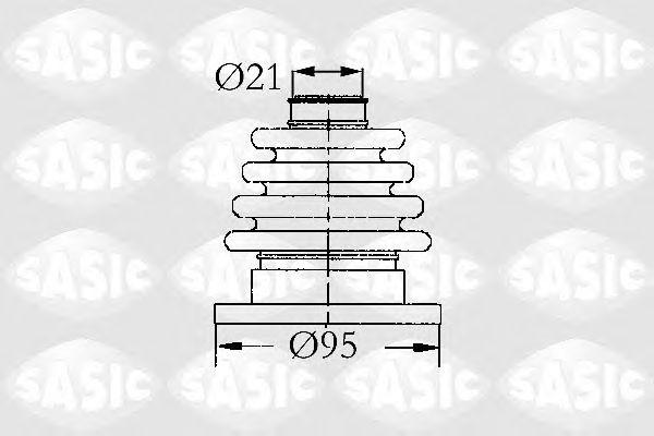Комплект пыльника ШРУСа SASIC 4003444
