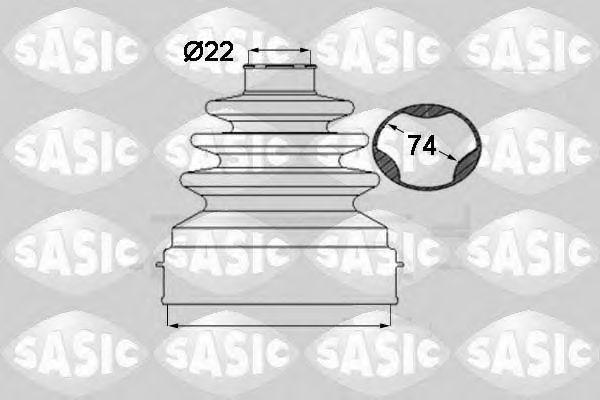 Комплект пыльника ШРУСа SASIC 1904028