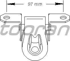 Кронштейн глушителя TOPRAN 108 644
