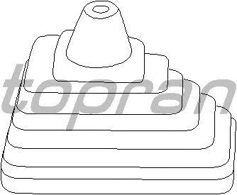 Обшивка рычага переключения TOPRAN 102 844