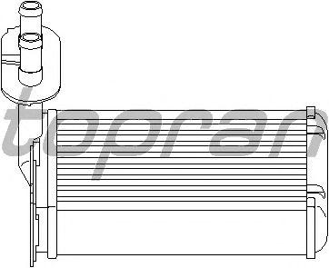 Радиатор отопителя TOPRAN 108 613