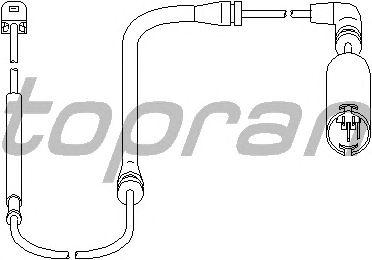 Датчик, износ тормозных колодок TOPRAN 501 403