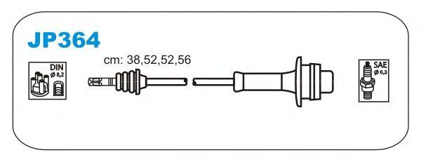 Комплект высоковольтных проводов JANMOR JP364