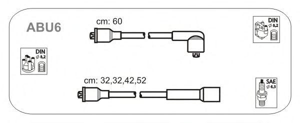 Комплект высоковольтных проводов JANMOR ABU6
