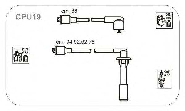 Комплект высоковольтных проводов JANMOR CPU19