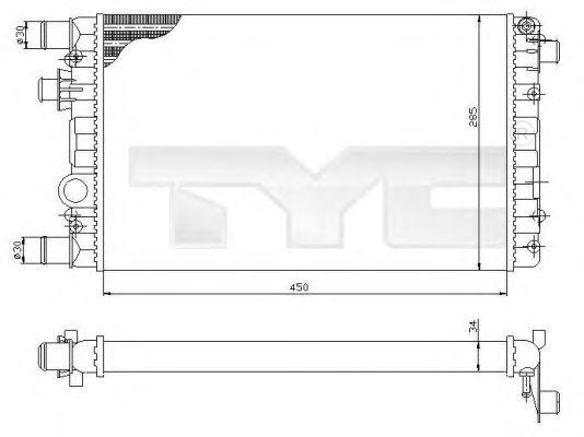 Радиатор, охлаждение двигателя TYC 709-0012
