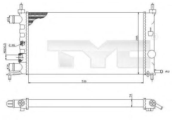 Радиатор, охлаждение двигателя TYC 725-0025-R