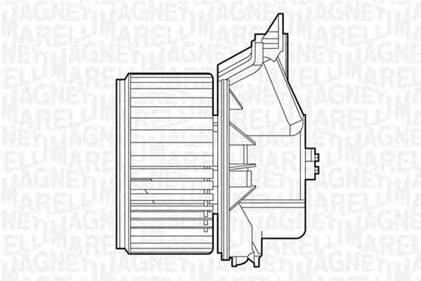 Вентилятор отопителя MAGNETI MARELLI 069412527010