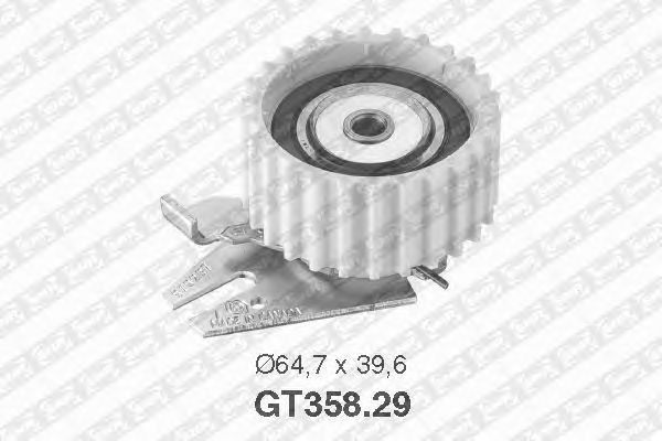 Натяжной ролик ремня ГРМ SNR GT358.29