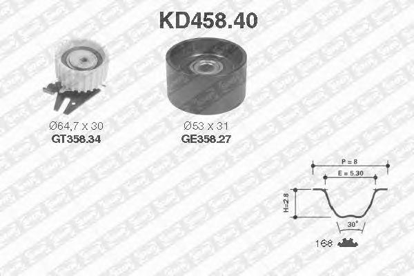 Комплект ремня ГРМ SNR KD458.40