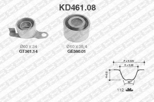 Комплект ремня ГРМ SNR KD461.08