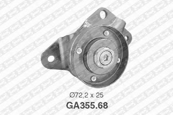 Натяжной ролик поликлинового ремня SNR GA355.68