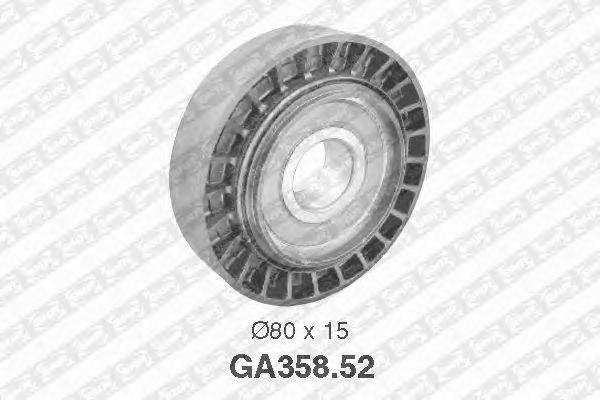 Направляющий / паразитный ролик  поликлинового ремня SNR GA358.52