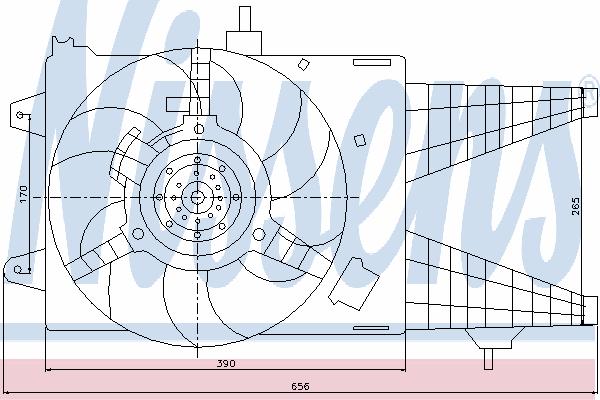 Вентилятор охлаждения NISSENS 85137