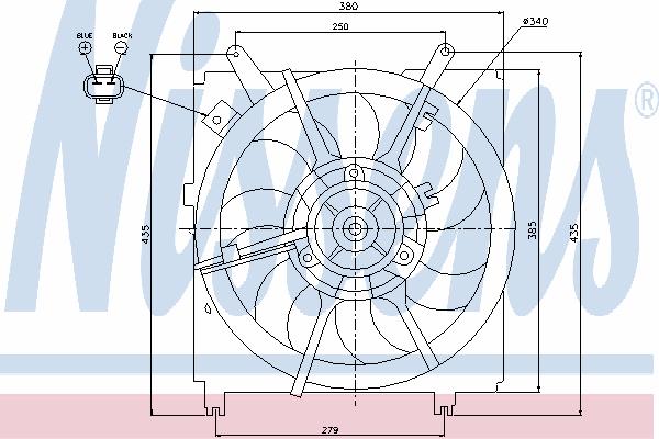 Вентилятор охлаждения NISSENS 85241