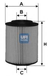 Масляный фильтр UFI 25.028.00